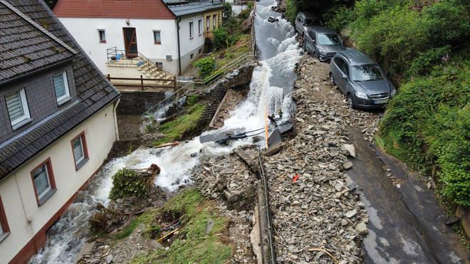 Floods have caused devastation in Germany