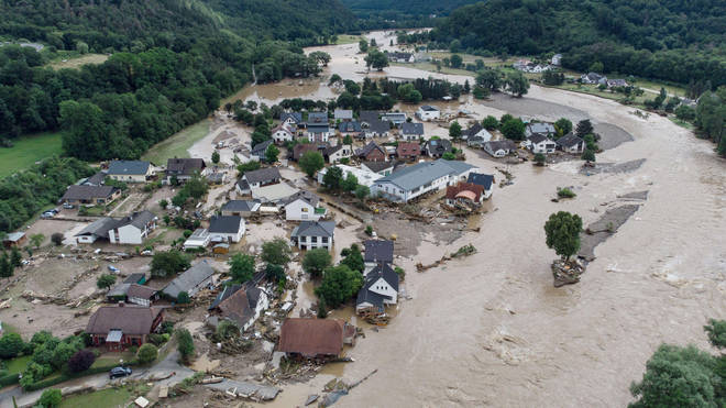 Floods have devastated Germany and Belgium