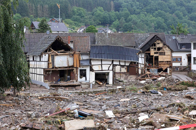 Homes have been left wrecked