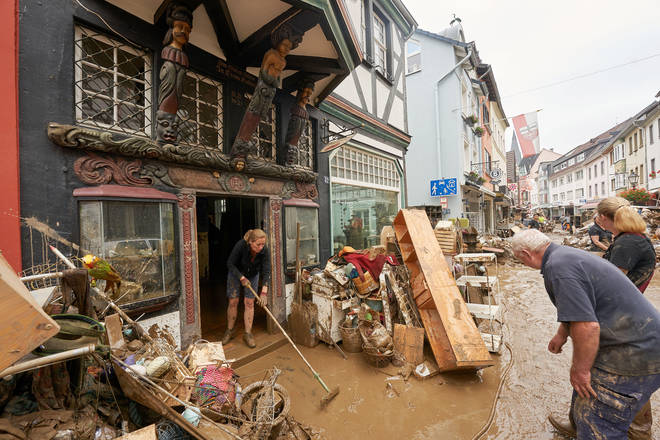 Affected regions are having to rebuild after the floods