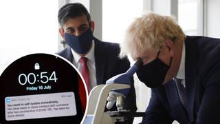 Boris Johnson and Rishi Sunak will now sel-isolate
