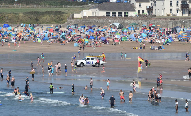 A woman was tragically pulled from the water at Croyde beach on Saturday. File photo.