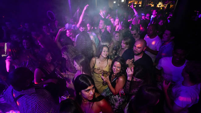 Crowds took to the dance floor at The Piano Works in London