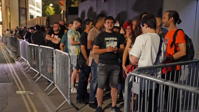 Dancers across the country queued in anticipation for clubs to reopen their doors.