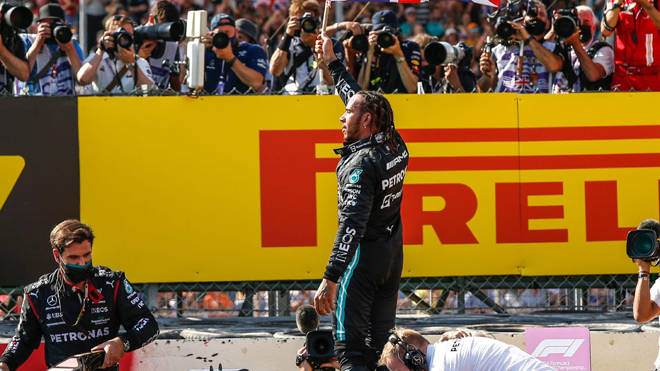 Lewis Hamilton was criticised for his celebrations after winning the race