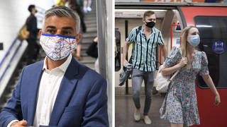 The Mayor of London has asked people to continue wearing masks in crowded spaces.