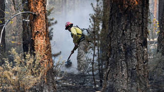 The Oregon Bootleg Fire has so far destroyed 70 homes and 100 outbuildings