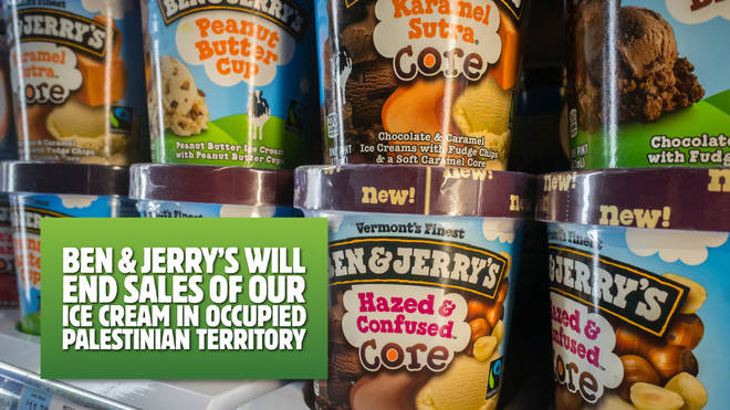 Ben & Jerry's has announced plans to stop sales in occupied Palestinian territories