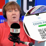 Shelagh Fogarty's fiery clash with caller over jab passports
