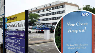 A man has been arrested after member of the hospital's staff was stabbed