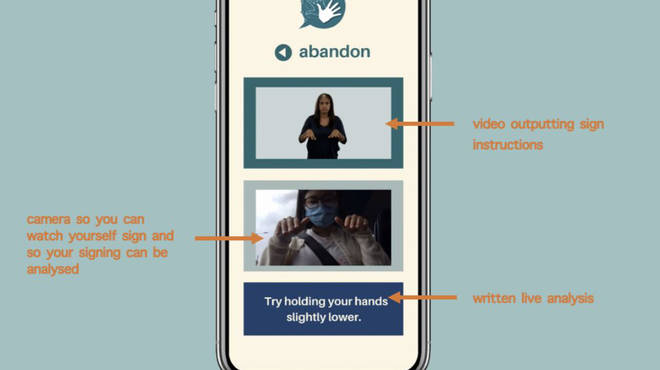 The prototype of the BSL: Educate-2-Translate app