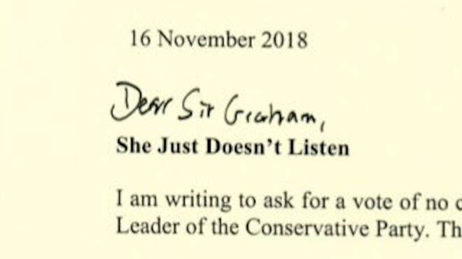 Mark Francois' letter of no confidence to the 1922 Committee