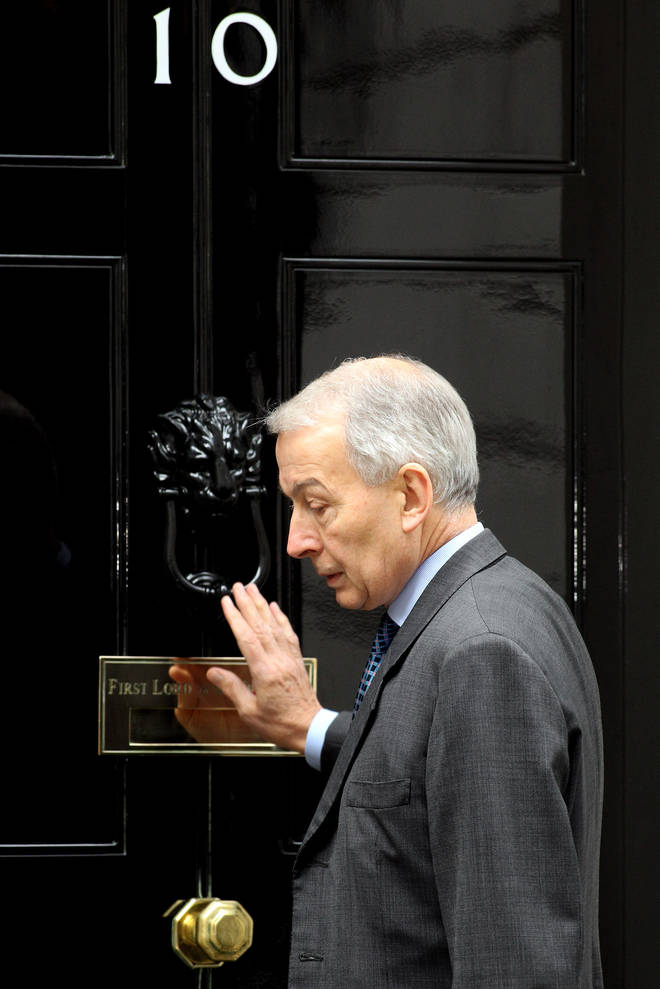 Frank Field outside 10 Downing Street