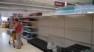 The 'pingdemic' has left fears about supplies in supermarkets as some shelves lay empty
