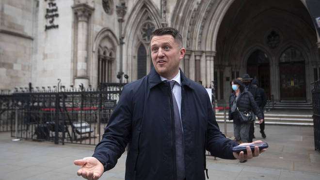 Tommy Robinson represented himself in the libel case