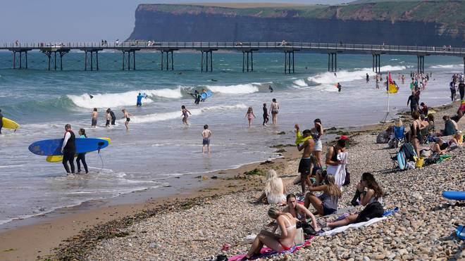 A warning about entering open water has been issued