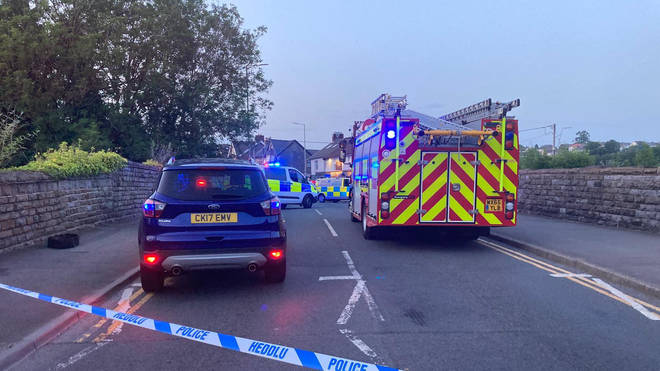 A major incident has been declared after a car collided with pedestrians outside a pub