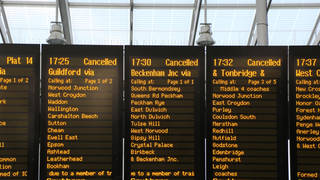 Networks across England will see cancellations and line closures as high numbers of staff are told to isolate