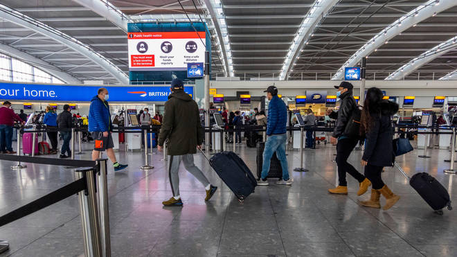 File photo of Heathrow Airport showing a busier check-in desk