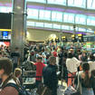 """The scene at Heathrow on Saturday were described as """"total chaos"""""""