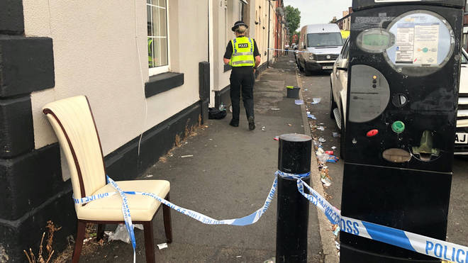 The scene of the fatal incident in Bury