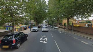 The woman was found with stab injuries on Lordship Lane, East Dulwich