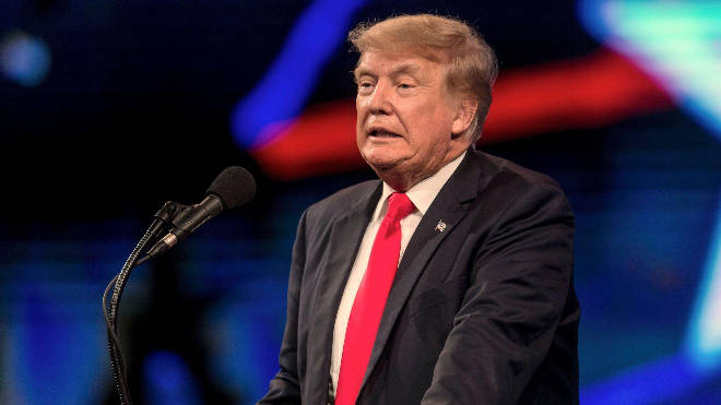 (File photo) Donald Trump used grunting noises to imitate the Taliban leader