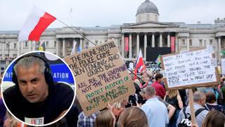 Maajid Nawaz denounces conspiracy extremists for 'hijacking' London rally