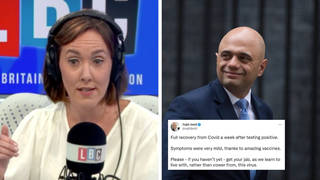Sajid Javid's 'cower' tweet 'perfectly sensible' Camilla Tominey insists