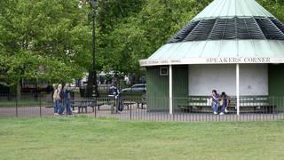 The incident happened at Speaker's Corner in Hyde Park (stock photo)