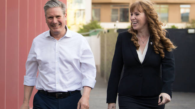 Sir Keir Starmer pictured with Angela Rayner earlier this year