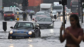 The capital was hit by floods on Sunday