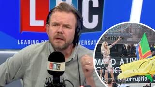 James O'Brien responds to shocking anti-vaxx rally in Trafalgar Square
