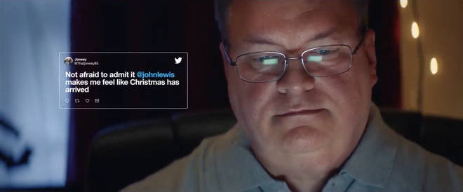 John Lewis in the Twitter Christmas advert