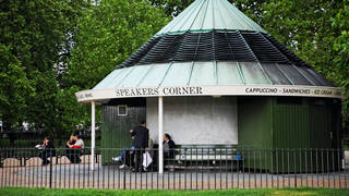 The attacked happened at Speaker's Corner in Hyde Park (stock photo)