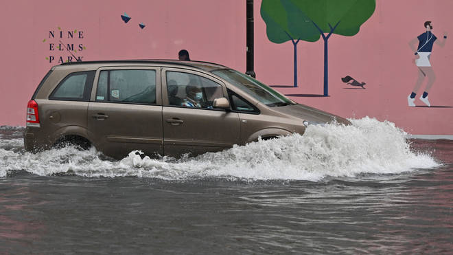 The capital saw flooding over the weekend, with the most rainfall on Sunday.