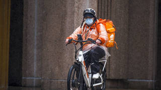 Just Eat delivery cyclist