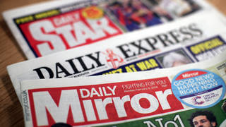 Mastheads for the Daily Mirror, Daily Star and the Daily Express