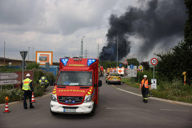 An explosion at an industrial park for chemical companies shook the German city of Leverkusen