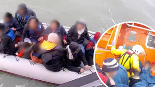 The footage has been released by the RNLI charity