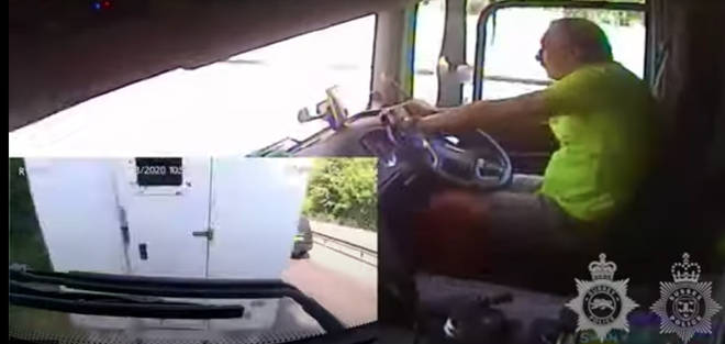 Sussex Police released the shocking footage