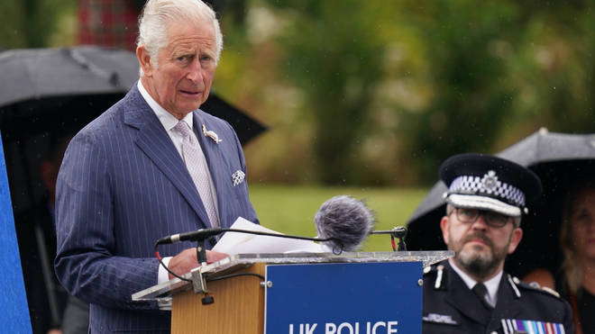 Prince Charles speaks at the unveiling