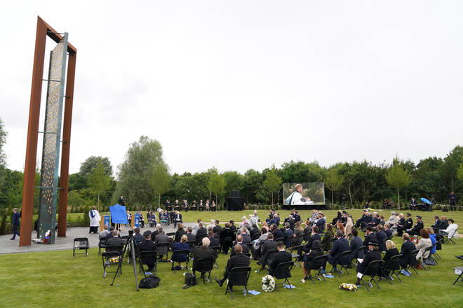 Families of police officers who have been killed on duty were among the invited guests