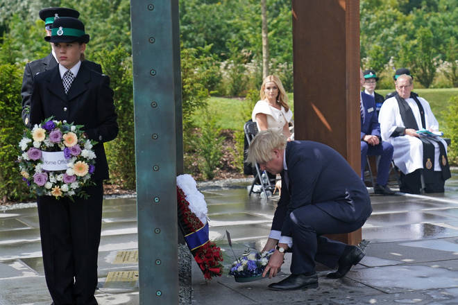 The Prime Minister lays a wreath