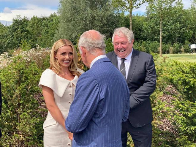 Prince Charles with Katherine Jenkins and LBC's Nick Ferrari