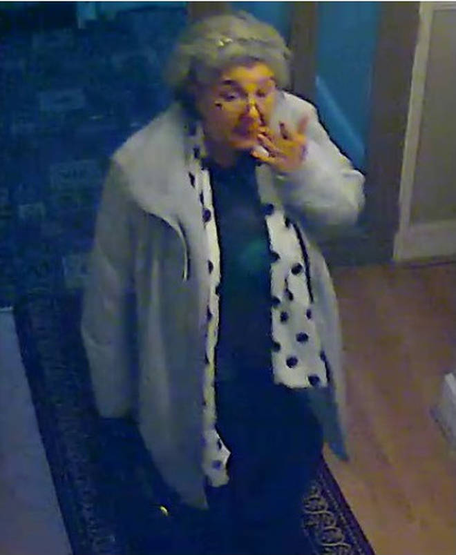 Lakatos at the Cricklewood Lodge Hotel where she stayed before the heist
