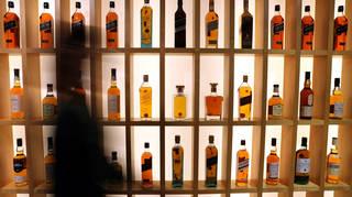 Diageo whisky display
