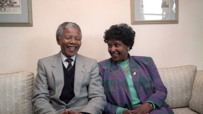Nelson Mandela and Winnie Mandela