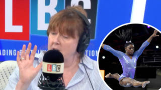 'Simone Biles craves attention now can't handle it,' caller says - Shelagh Fogarty responds