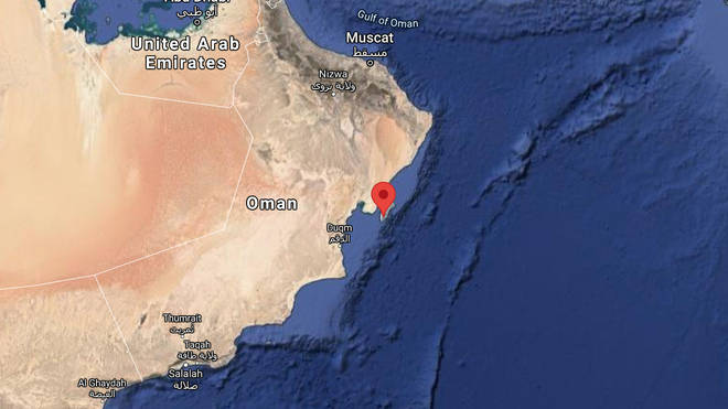 The vessel was attacked in the Arabian Sea off the coast of Oman
